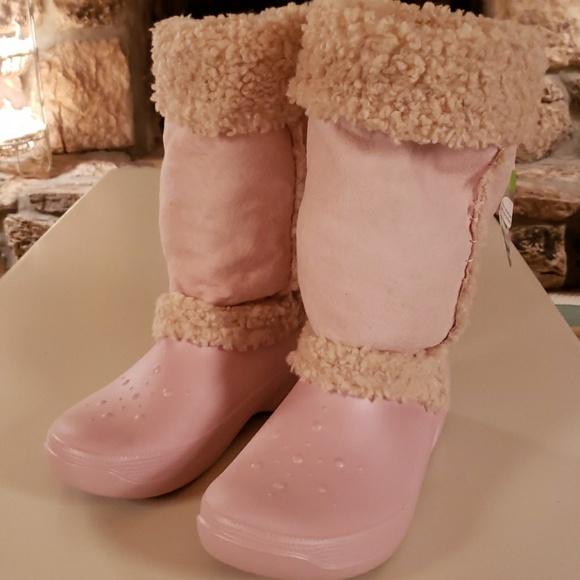 904cd55344ea CROCS Shoes - Size 10 Baby Pink Suede Booties